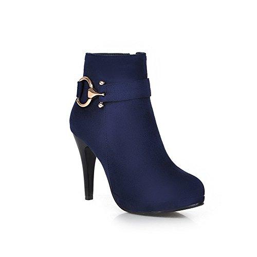 A&N ,  Damen Durchgängies Plateau Sandalen mit Keilabsatz , blau - blau - Größe: 35.5