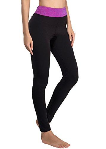 Sport Yoga Damen Hosen Legging Neunten hohen Taille Strumpfhosen für Yoga Radfahren Camping Running Jogging S, M, L, XL, XXL (44, pink)