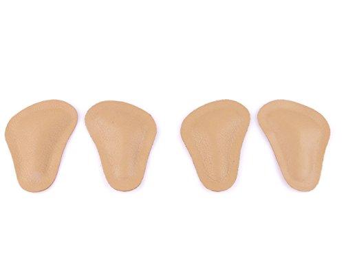 2 Paar Spreizfuß Pelotten aus Leder T-Form - retrokapitale Abstützung - zum einkleben in die Schuhe z1780(36 - 38) (Schuheinlagen Herren)