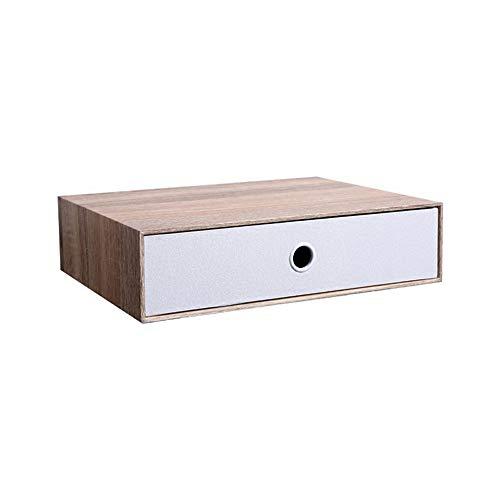 große einfache leichte robuste stapelbare natürliche Dichtung tragbare Push-Pull-Desktop-Organizer-Schubladen-Container-Box (Farbe : Natürlich) ()