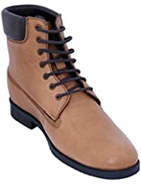 Celby Sharp Tan Color Boot With Hidden Heel Height Increasing Elevator Shoes For Men