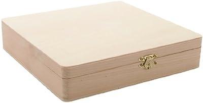 Darice 9180-06 - Cajas de almacenaje de madera, para artes y artesanía, 4,6 x 20,8 x 21,6 cm