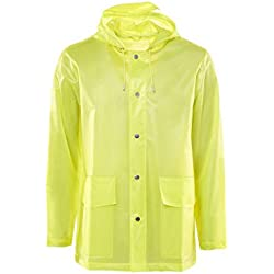 Rains Chaqueta Impermeable Unisex Yellow Talla X-Small/Small