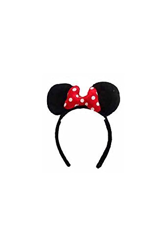 Disney Minnie Mouse Ears With Red Bow Baby Girls Dress Up Hairband - Red Black by Disney (Dress Up Girl Black)