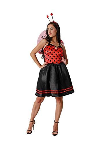 Costumizate! Disfraz de Mariquita Adulto Especial para Fiestas de Disfraces y Carnaval Talla Unica