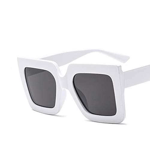 Taiyangcheng Sonnenbrillen mit eckigem Gestell und Sonnenbrillen Damen Brillen,C2 Weißgrau