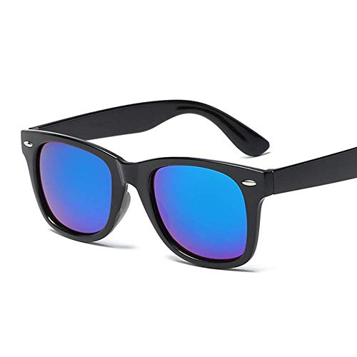 Lubier Sonnenbrille, polarisiert, reflektierend, für Herren und Damen, großes Gestell, für Outdoor-Aktivitäten, dunkelblau, M