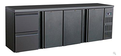 Flaschenkühltisch 3 Türen 2 Schubl. Barkühlschrank Getränkekühlschrank