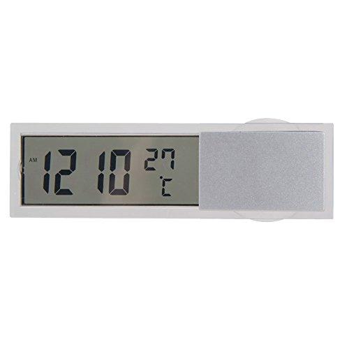 Preisvergleich Produktbild Demiawaking Auto 2 in 1 Digital LCD Uhr Thermometer mit Saugnapf
