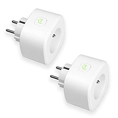 Presa Intelligente Wifi 16A 3680W Smart Plug Intelligente Energy Monitor,  Funzione Timer, App Controllo Remoto, Compatibile con Amazon Alexa, Google