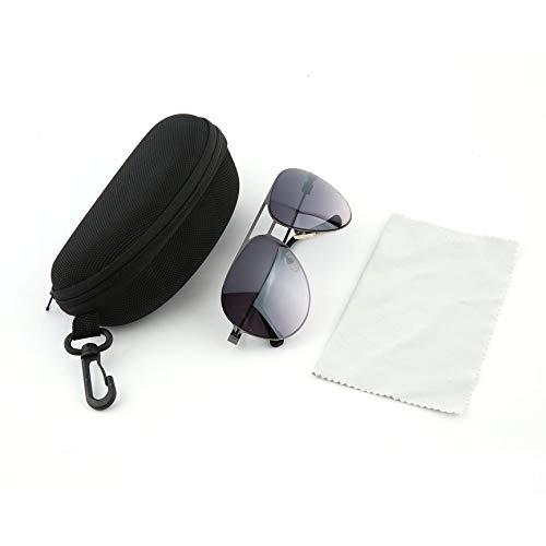 Peanutaod Modische Sonnenbrille metallrahmen uv-Schutz tragbare Erwachsene Sonnenbrille mit Tragetasche Outdoor Reise Brillen
