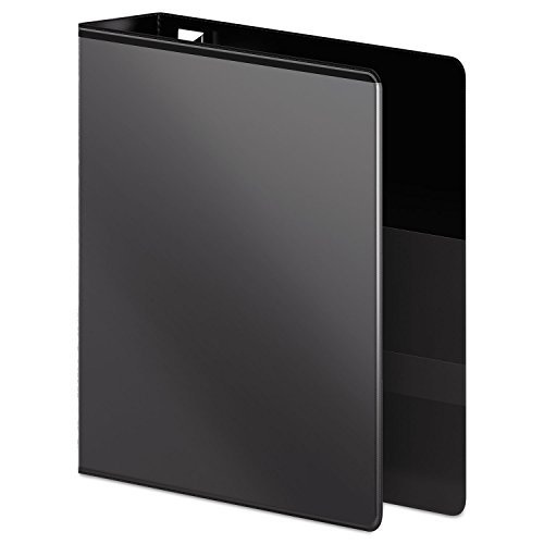 Professional Plus No-Gap D-Rings Vinyl View Binder, 3 Capacity, Black, Sold as 1 - Binder Jones Wilson Professional