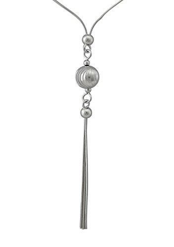 hanessa Étui en argent 925/1000Bijou Femme Collier de Chaîne et Pendentif en Argent–Collier véritable avec boules (diamanté) de cadeau pour la femme F554