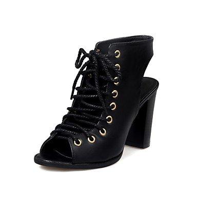 LvYuan Sandali-Casual-Club Shoes-Quadrato-PU (Poliuretano)-Nero Beige Black