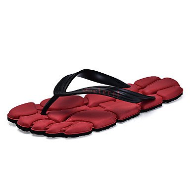 Slippers & amp da uomo; Estate con laccio dietro al Comfort Light Suole PU casual Tallone piano Blu Rosso Marrone sandali US7.5 / EU39 / UK6.5 / CN40