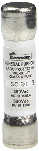 N/a Replacement Cartridge (Bußmann sc-3030Amp Träge Class G Melamin Röhre, 600V Ul Listed)