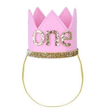 Pasabideak Kronen mit Nummern, zum 1. Geburtstag, Party-Krone für Jungen und Mädchen, Party Kopfschmuck Hut Prinzessin Prinz Krone Dekoration Zubehör Fotoshootings a (Prinz Kronen Prinzessin Und)