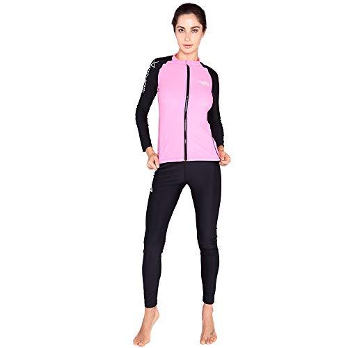 ZUKN Combinaisons de plongée pour Femmes Grande Taille et à Manches Longues vêtements de méduses Anti-UV Maillot de Bain à séchage Rapide pour la plongée sous-Marine Plongée en apnée Sports Nautiques