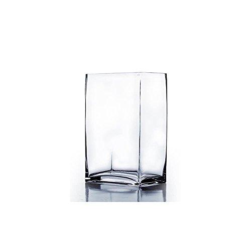 WGV klar Rechteck Block Glas Vase, 3von 4von 17,8cm