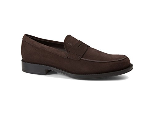 tods-suede-loafers-brown-mens-size-8