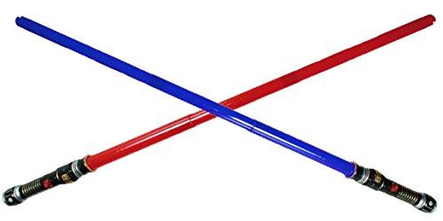 rt mit Licht und Sound Rot/Blau Weltraumschwert Laserschwert 1111 (Licht Säbel Schwerter)
