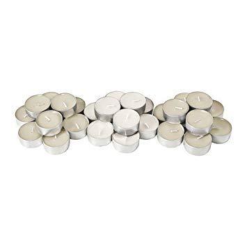Velas perfumadas de vainilla natural, Ikea Sinnlig, lote de 30