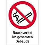 Schild Kombischild Rauchverbot im gesamten Gebäude PVC 29,7 x 21cm