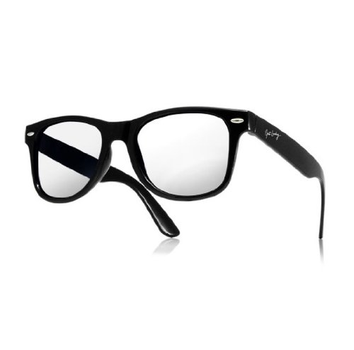 NEW UNISEX (MENS WOMENS) Vintage Retro Klare Linse Brille Clear Lens Morefaz(TM) (get luck) (Dots Sock Skull)