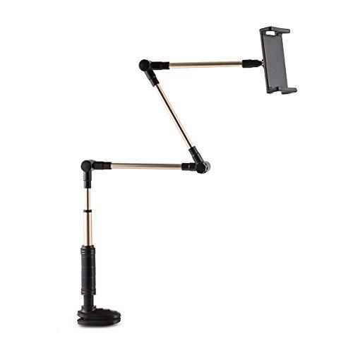 Halterung-fr-Handys-und-Tablet-Foraco-Flexibel-und-Verstellbar-Metall-Stnder-fr-4-14-Zoll-iPhone-Android-Smartphone-Klammer-fr-MAX-75CM-Schwarz