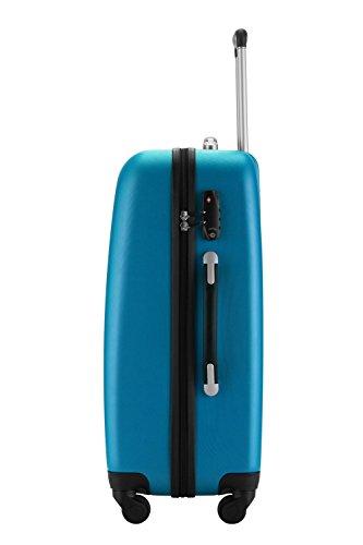 HAUPTSTADTKOFFER® 3er Kofferset · WEDDING · TSA · MATT · (in versch. Farben) + REISEADAPTER (Schwarz) Cyan Blau