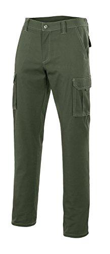 Velilla 103001 - Pantalón multibolsillos (talla 48) color verde caza