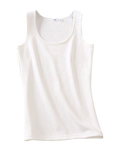 Damen Unterhemd Winter Fleece Verdicken Weste Weich und Atmungsaktiv Underwear Weiß