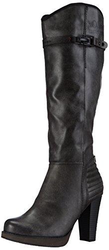 s.Oliver 25505, Damen Langschaft Stiefel, Grau (Graphite 206), 41 EU (7.5 Damen UK)