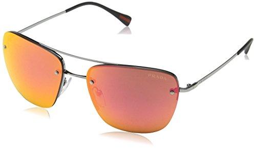 Prada Sport Herren PS52RS Sonnenbrille, Grau (Gunmetal 5AV5M0), One size (Herstellergröße: 56)