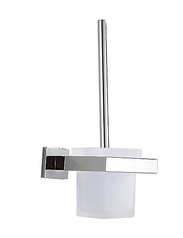 XYZHF *304 contemporain Acier inoxydable poli miroir Toilettes Mural porte-balais
