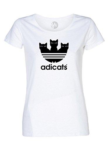 KSS KSS KSS Femmes Top T-Shirt Chat Chaton Message...