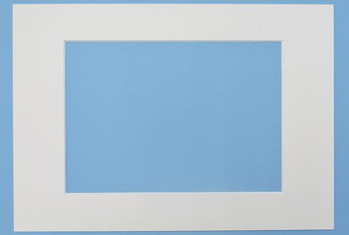 Passepartout in Weiss 10x15 cm mit Ausschnitt für 9x13 cm, Passepartouts in Museumsqualität - 3 Stück