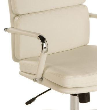Teknik Deco Retro Faux Leather Chair Chrome Office Seat In White