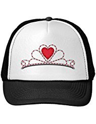 Funny Tiara With Red Heart Shape Gem Trucker Hat