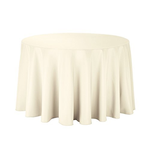 Round Plain Table Cover Cloth Cotton Wedding Dining