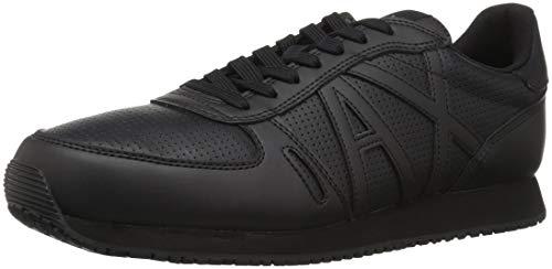Armani Exchange Herren Lace Up Sneaker, Schwarz (Black 00002), 42 EU