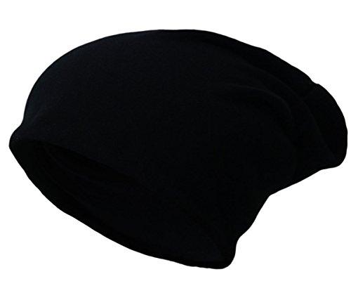 Beanie Jersey Slouch Long Unisex Cap Mütze Damen Herren New Brand 2016 (Schwarz)