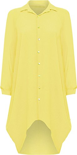 Janisramone - Robe - Manches Longues - Femme * taille unique Jaune
