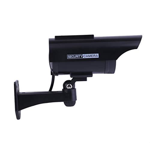 Practical Indoor Outdoor Solar Power Dummy Fake Imitation Home CCTV Surveillance Camera with LED Light Indicator - Imitation Security Camera