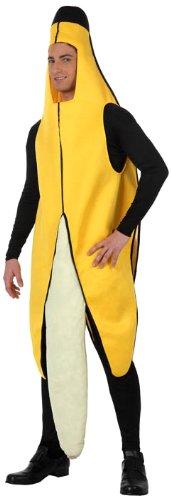 Atosa-10567 Disfraz Plátano, color amarillo, M-L (10567)