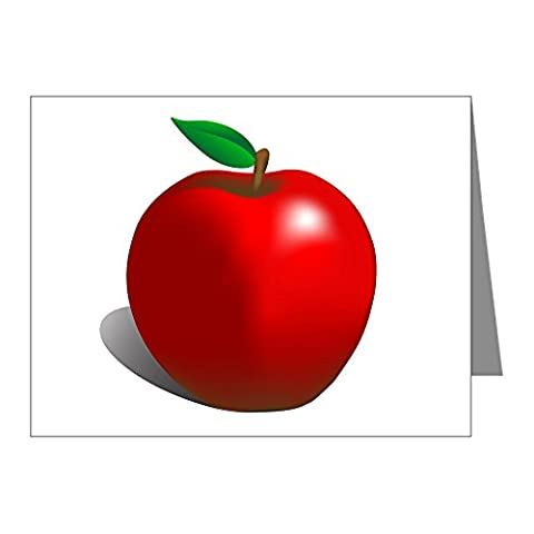 CafePress - Red Apple Fruit Note Cards (Pk Of 20) - Note Cards (Pk of 20) Glossy