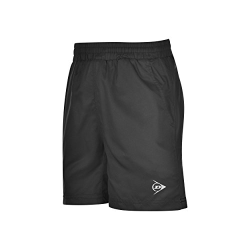 Dunlop Herren Clubline Woven Shorts Oberbekleidung, Schwarz, L
