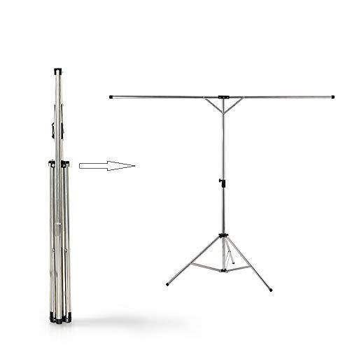 ZHX Falten Airer, Edelstahl Einstellbare Teleskop Tragbare Einfache Hängende Wäscheständer Für Home Reise Boden Balkon,Silver,125cm