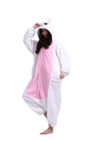 Imagen de magicmode adultos de dibujos animados de animales de cosplay disfraces unisex anime sudadera con capucha kigurumi pijama enterizo de ropa de dormir gato blanco m