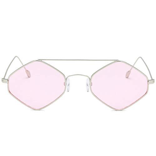 Unisex Polygon Kleiner Rahmen Sonnenbrillen Männer Frauen dekorative Gläser Anti-UV-Sonnenbrillen Brillen